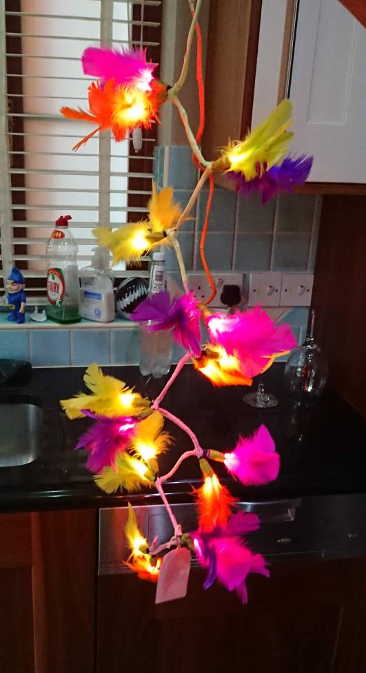 Decorated fairy lights