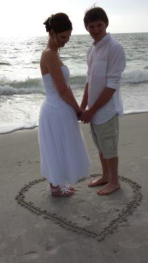 Sunset Beach Treasure Island Florida Wedding