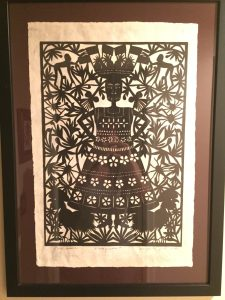 Hand made paper cut out from Margarita Fick