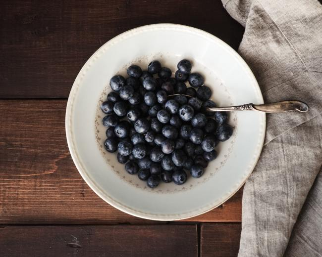 Bowl of blueberries superfoods