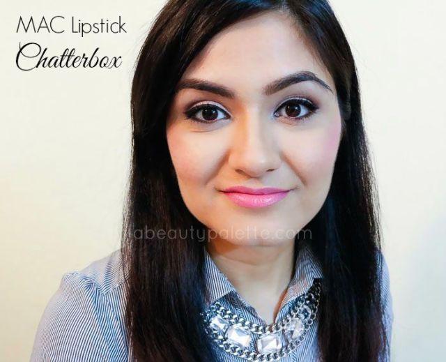 Mac Amplified Creme Lipstick Chatterbox Swatch nc 35