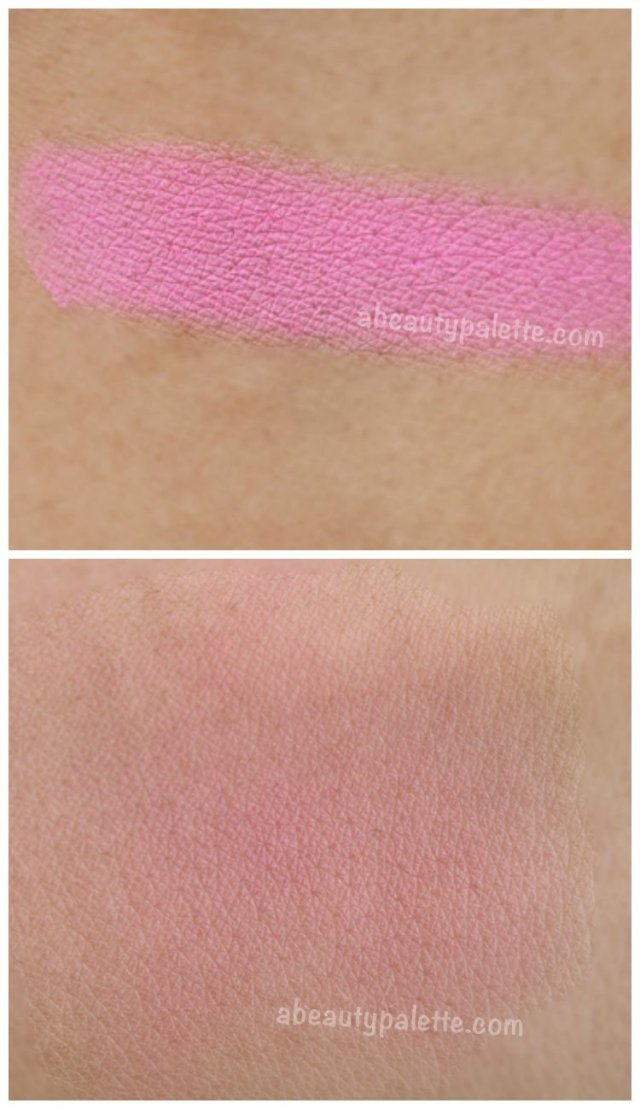 Sleek Powder Blush- Pixie Pink Swatch