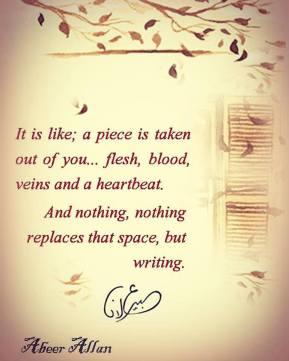 الكتابة - Writing