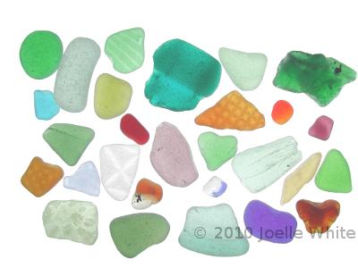 assortment sea glass