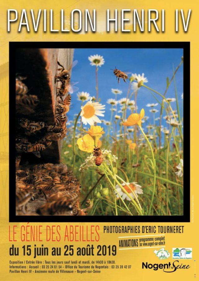 Affiche de l'exposition abeille Nogent sur Seine