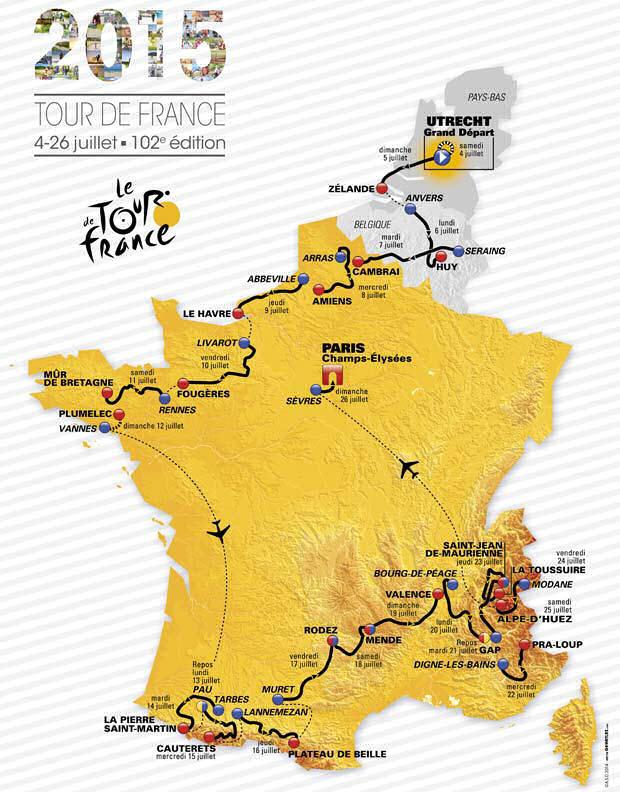 Route Tour De France 2016 : route, france, France,, 2015,, Austerity, Race?, France, Abelard.org