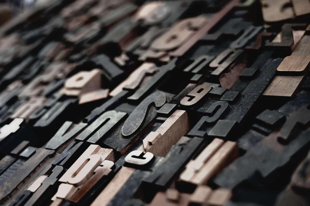 Letras metálicas de imprenta