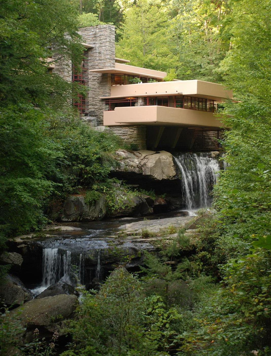 Fallingwater Casa de la Cascada de Frank Lloyd WRIGHT
