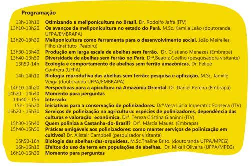 programação seminário Embrapa Amazônia Oriental