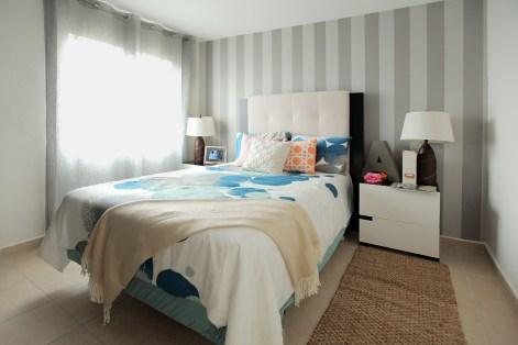 Recámara con Acabados Modernos en Verona Residencial, Modelo de Casa Borsari, Santa Fe, Tijuana JMS Propiedades del Lic. Abel Jiménez