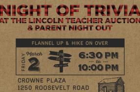 Tonite! Lincoln's Annual Parents Night Out Trivia & Fundraiser