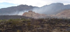 Loop Fire, Red Rock Conservation Area 2005