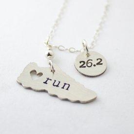 marathon charm necklace