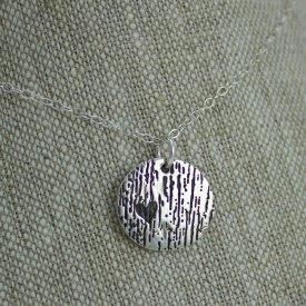 Heart woodgrain nature necklace