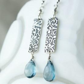 Artisan London Blue Topaz earrings