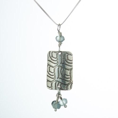 peacock aquamarine pendant