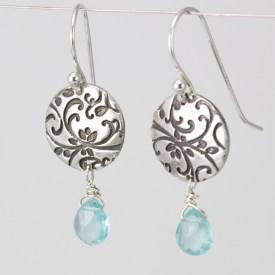 Apatite gemstone growth earrings