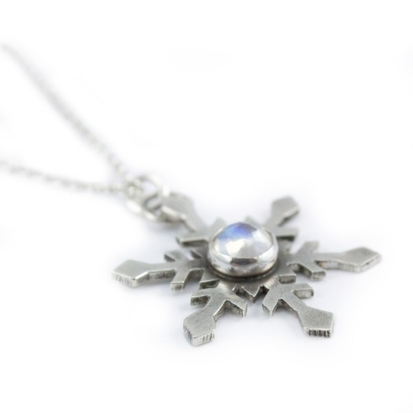 moonstone snowflake necklace