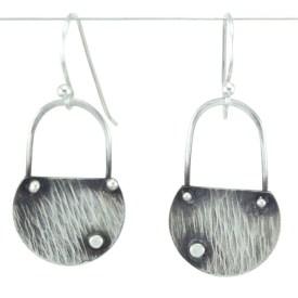 Ripple silver earrings