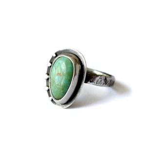 Verdigris Turquoise Ring