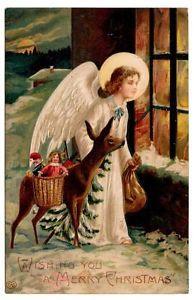 Christkindl kigger efter de søde børn, der skal have julegaver!