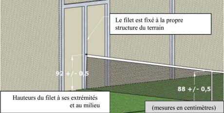 PQT FFT Dimensions du Filet de Padel