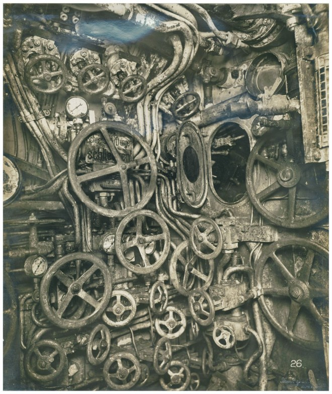 Control room of the U-Boat submarine, 1918