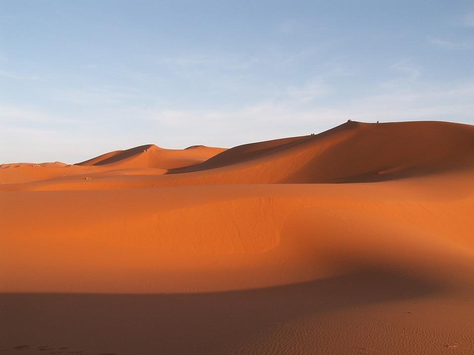 Sand Dune Travel Desert Sand Erfoud Morocco
