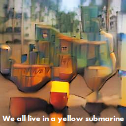 We all live in a yellow submarine