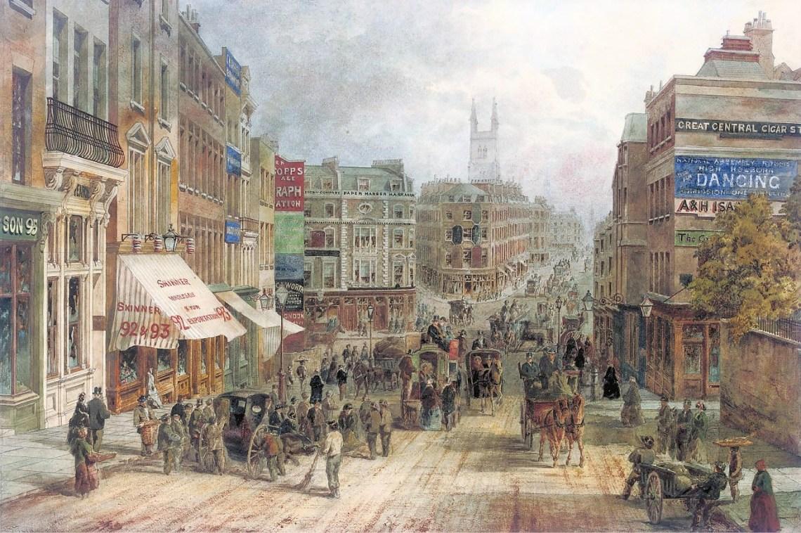 English_School,_19th_Century,_Snow_Hill,_Holburn,_London