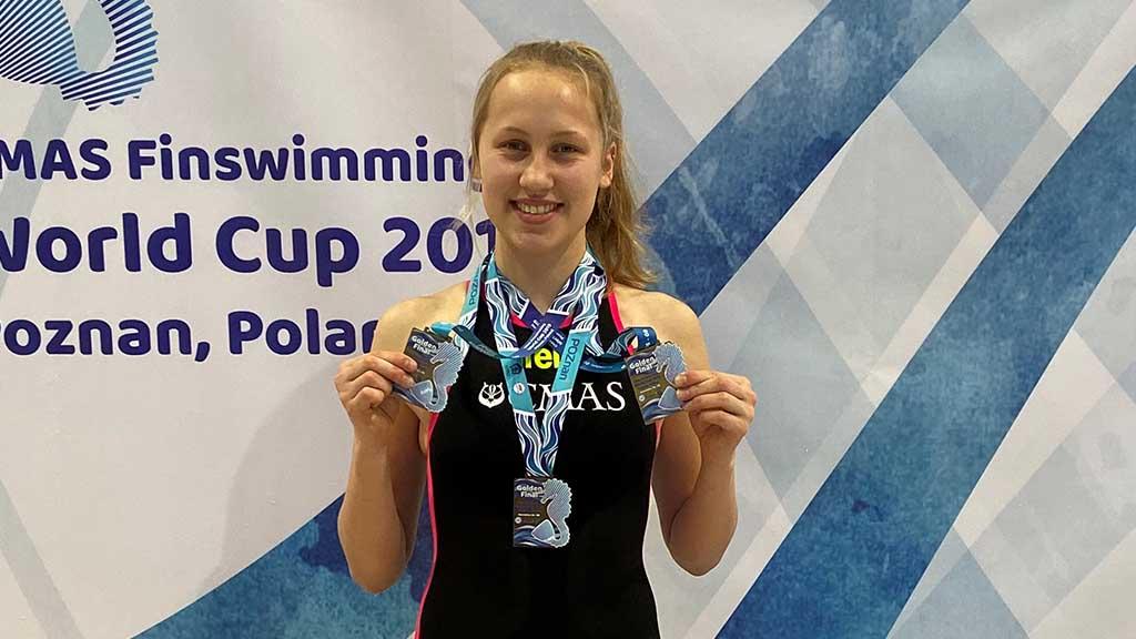 Marzahn-Hellersdorf: Kaulsdorferin schwimmt Weltrekord