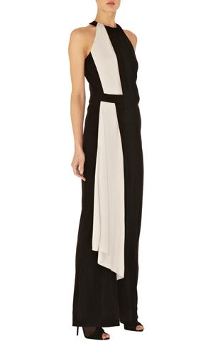 Jersey-Kleid, schwarz-weiß, Karen Millen
