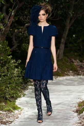 Cocktailkleid blau, Chanel 2013
