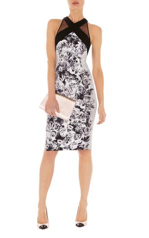 Cocktailkleid schwarz-weiß, Karen Millen