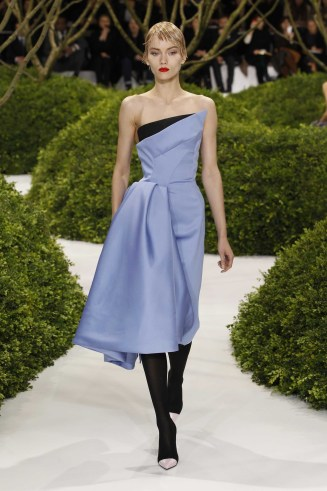 Blue and black silk Cocktaildress, Dior