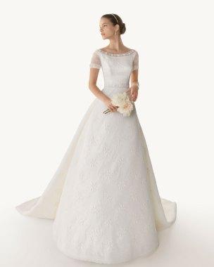 Brautkleid mit Grace-Ausschnitt, Rosa Clara