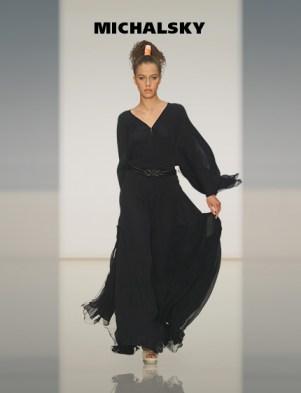 MICHALSKY Langarm Abendkleid schwarz