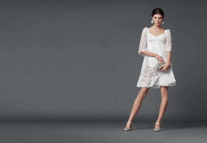 Weißes Cocktailkleid Dolce & Gabbana