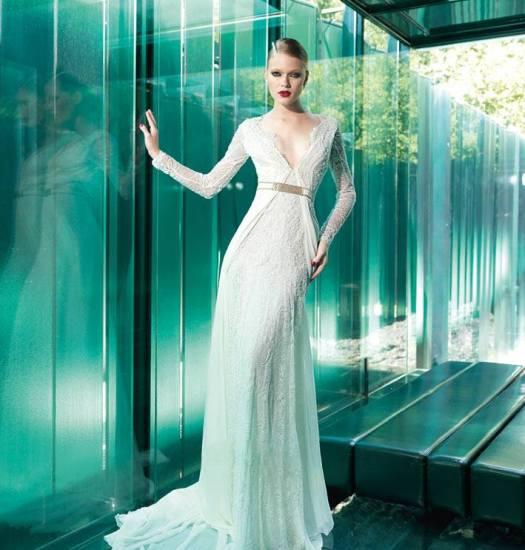 Langarm Brautkleid