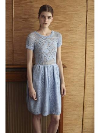 Kurzes Kleid mit zauberhaftem Muster - marokkanische Kleider