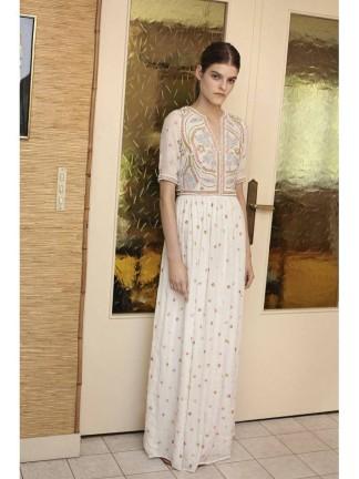 Mademoiselle Manoush - Langes Kleid aus feinstem Baumwollkrepp - marokkanische Kleider