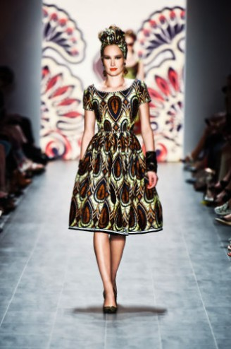 Lena Hoschek - Mercedes-Benz Fashion Show SS 2015 Cameroon Dress