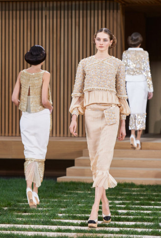 Abendkleid schlanke Silhouette. Chanel 2016