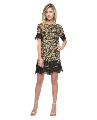 Juicy Couture - Kleid mit Leoprint und Spitze