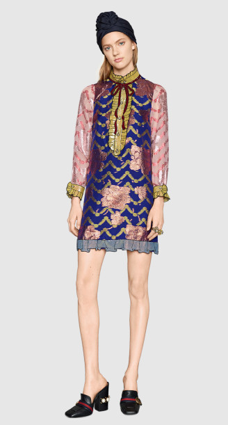 Buntes Abendkleid kurz, Gucci 2016