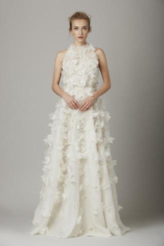 Promi Brautkleider-Lela Rose-Blumen Kleider weiß | Abendkleider4You