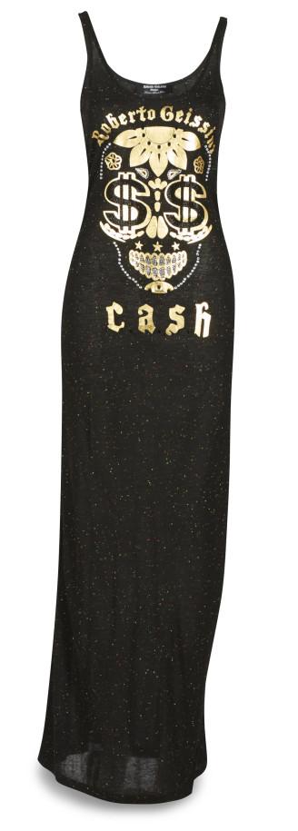 langes schwarzes Kleid, Geissini