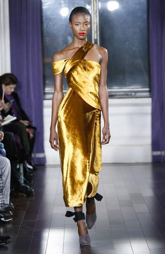 JASON WU Abendkleid gold, Kollektion 2017/18