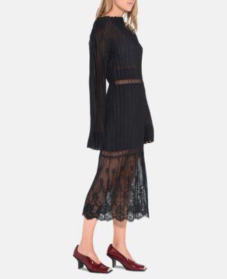 Zweiteiliges Abendkleid langarm in Schwarz