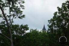 Geheimnisvoller Blick zum Hochschloss Pähl